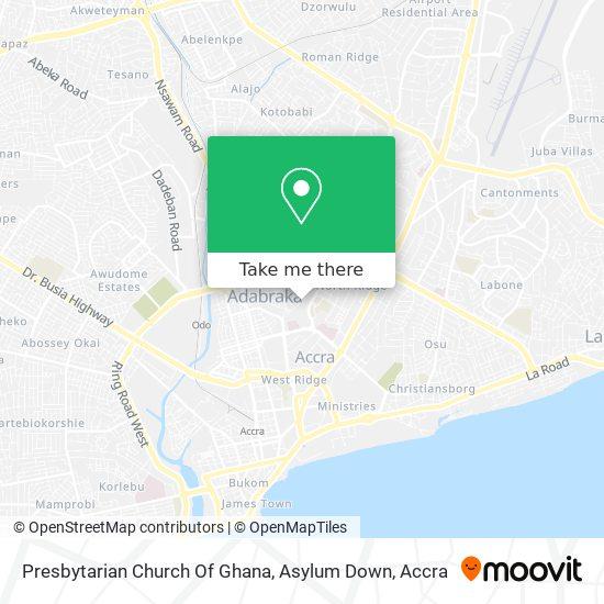 Presbytarian Church Of Ghana, Asylum Down map