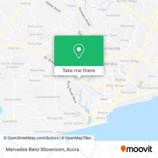 Mercedes Benz Showroom map