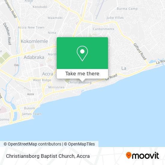 Christiansborg Baptist Church map