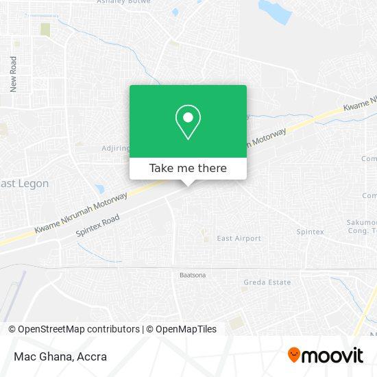 Mac Ghana map