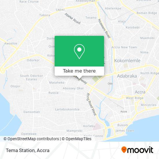 Tema Station map