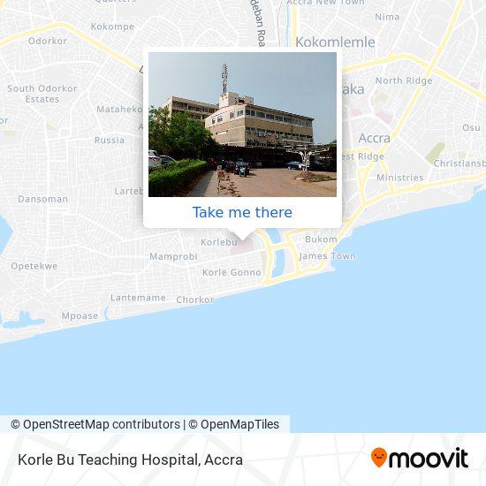 Korlebu Teaching Hospital map