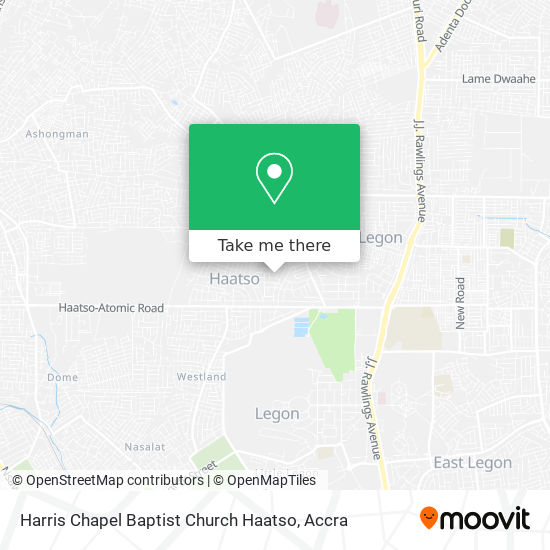 Harris Chapel Baptist Church Haatso map
