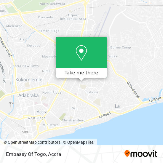 Embassy Of The Togolese Republic map