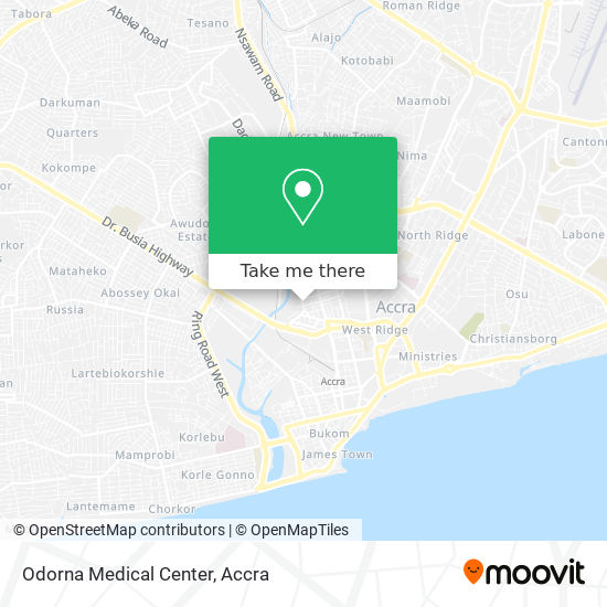 Odorna Clinic map