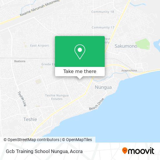 Gcb Training School Nungua map