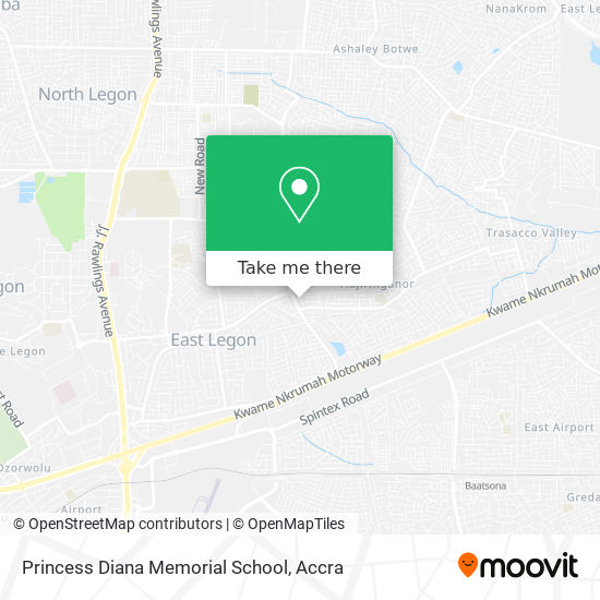 Princess Diana Memorial School map