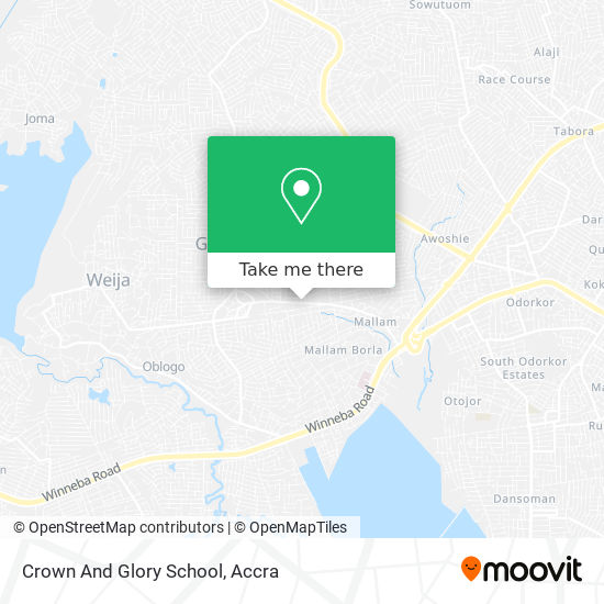 Crown And Glory School map