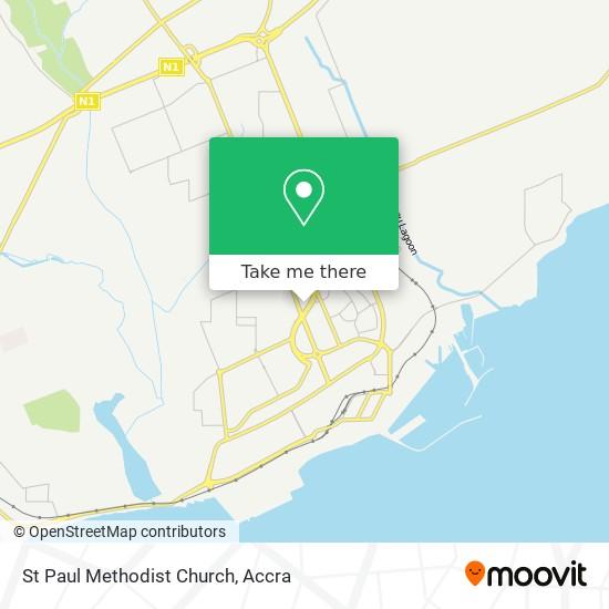 St Paul Methodist Church map