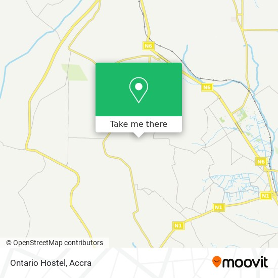 Ontario Hostel map