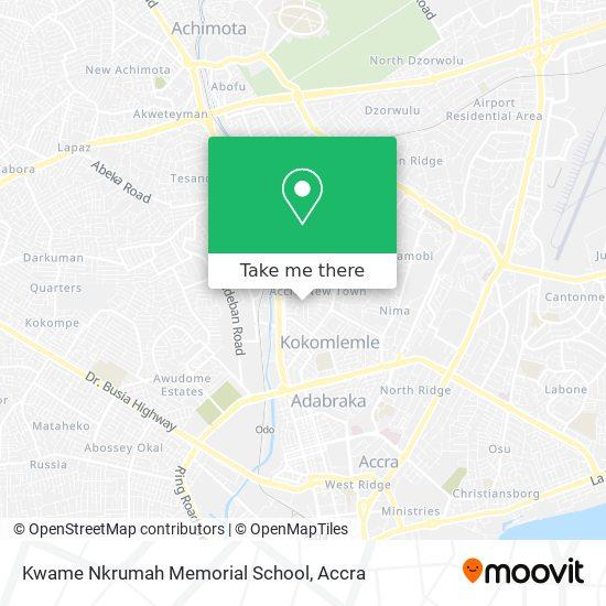 Kwame Nkrumah Memorial School map