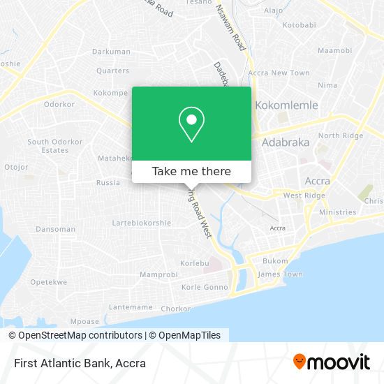 First Atlantic Bank map