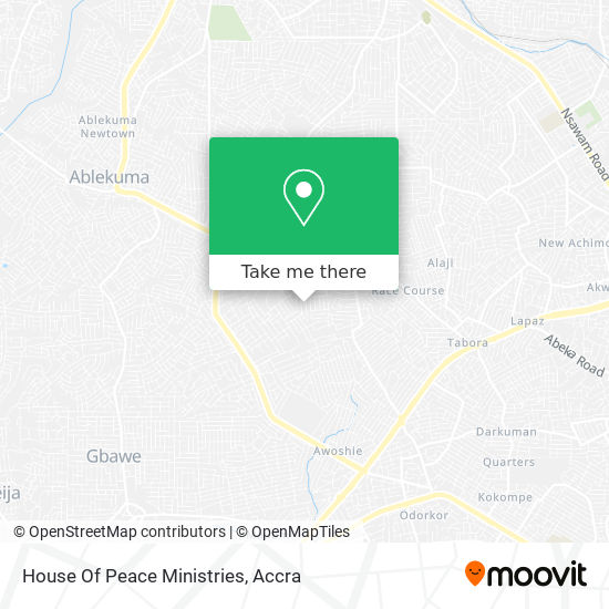 House Of Peace Ministries map