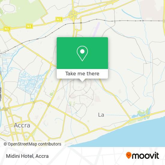 Midini Hotel map