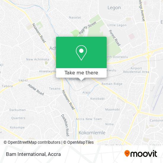 Bam International map