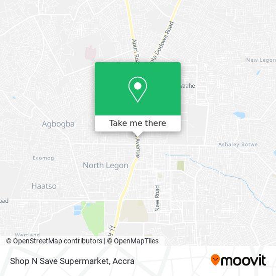 Shop N Save Supermarket map