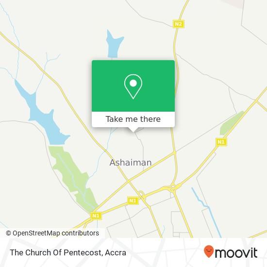 The Church Of Pentecost map