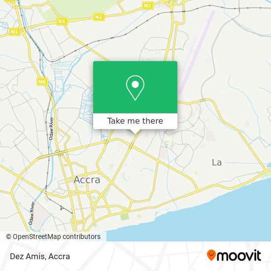Dez Amis map