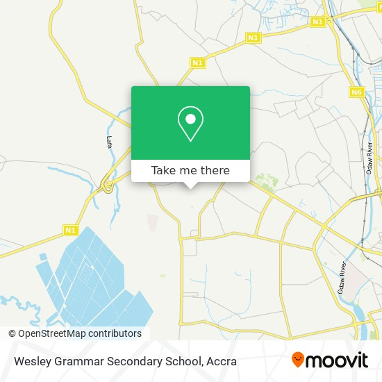Wesley Grammar Secondary School map