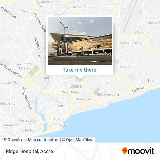 Ridge Hospital map