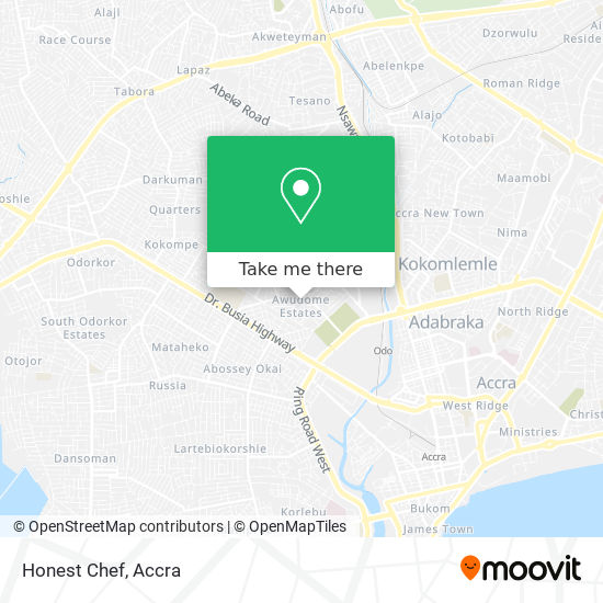 Honest Chef map