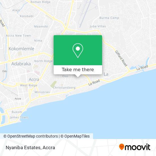 Nyaniba Estates map