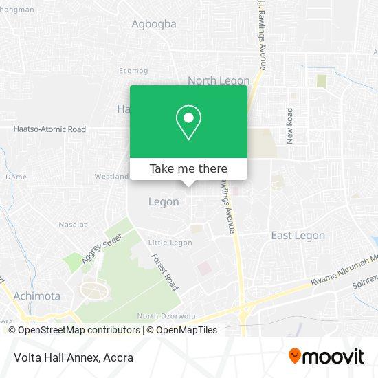 Volta Hall Annex map