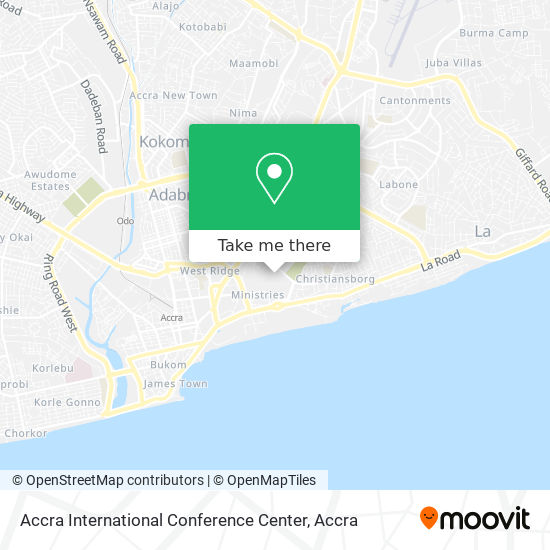 Accra International Conference Center map