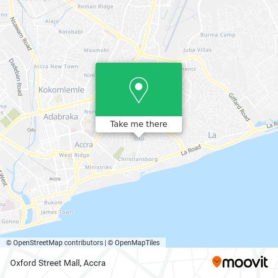 Oxford Street Mall map