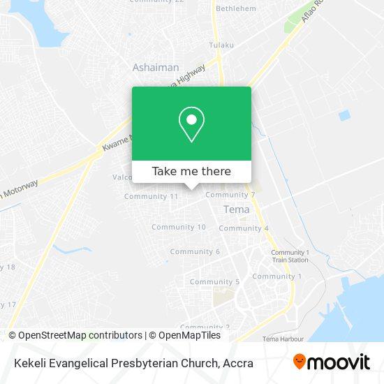 Kekeli Evangelical Presbyterian Church map