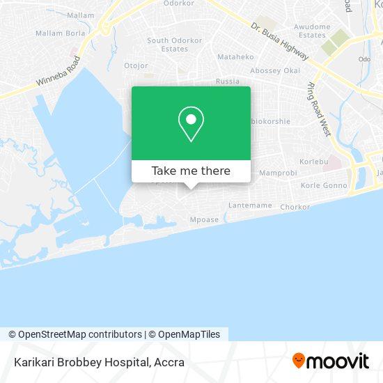 Karikari Brobbey Hospital map