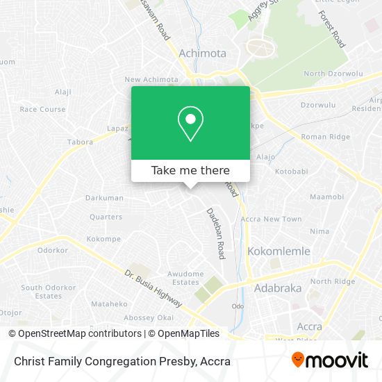 Christ Family Congregation Presby map