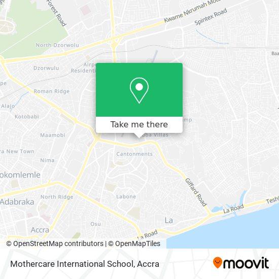 Mothercare International School map