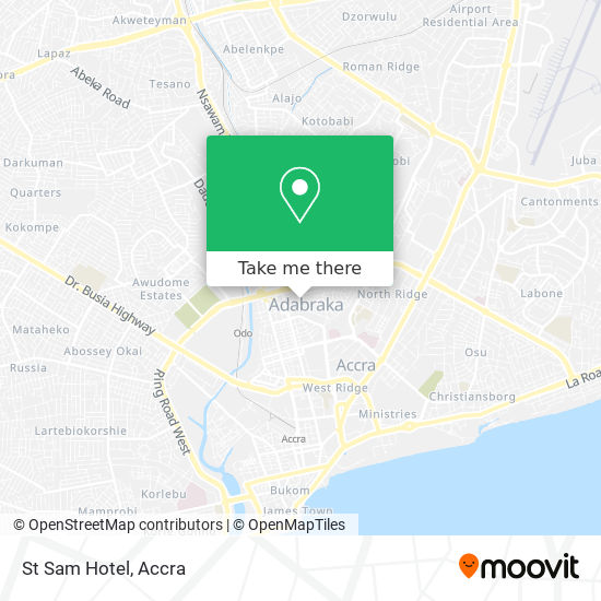 St Sam Hotel map