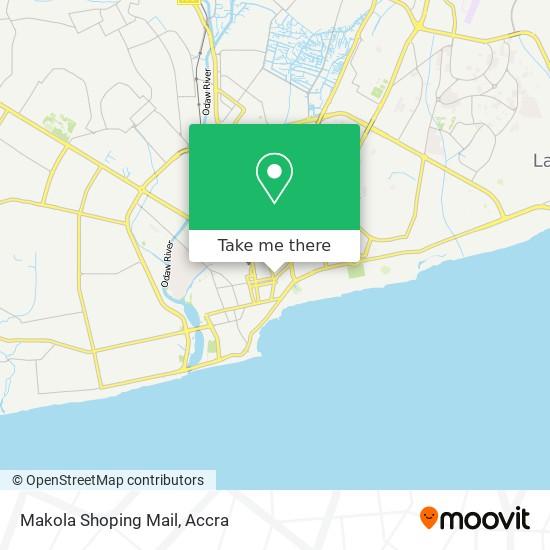 Makola Shoping Mail map