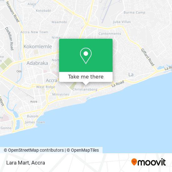 Lara Mart map