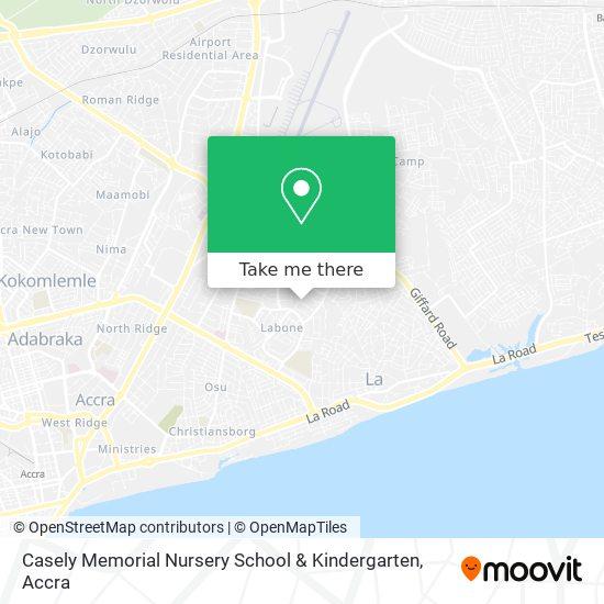 Casely Memorial Nursery School & Kindergarten map