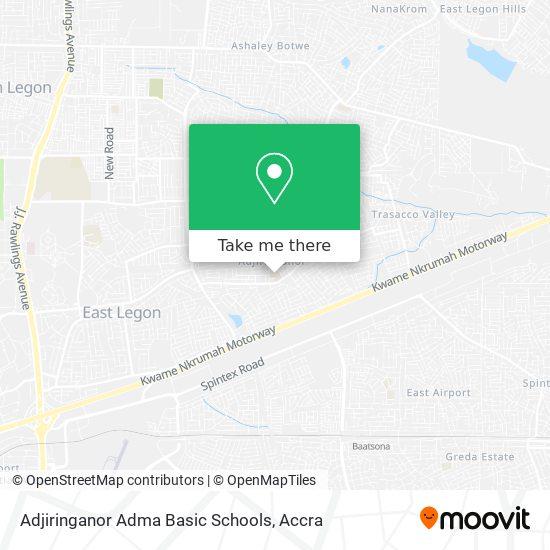 Adjiringanor Adma Basic Schools map