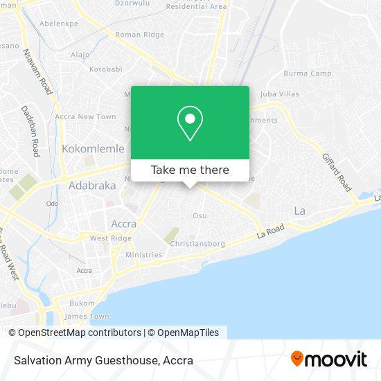 The Salvation Army Ghana map