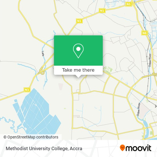Methodist University College map