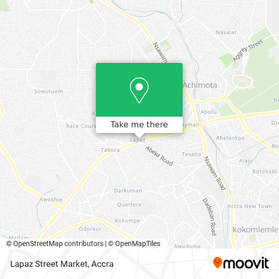 Lapaz Street Market map