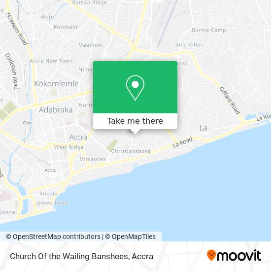 Church Of The Wailing Banshees map