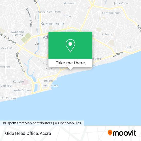 Gida Head Office map