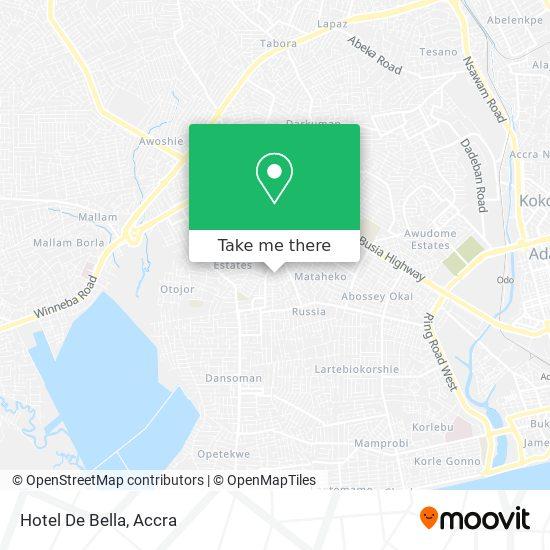 Hotel De Bella map