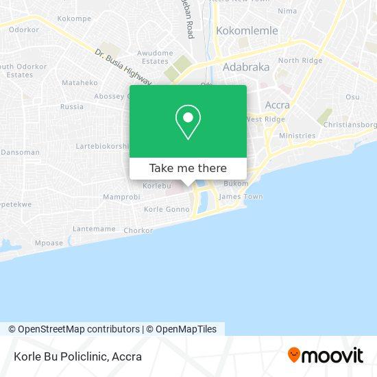 Korle Bu Policlinic map