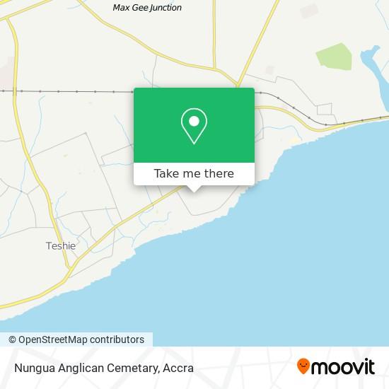 Nungua Anglican Cemetary map