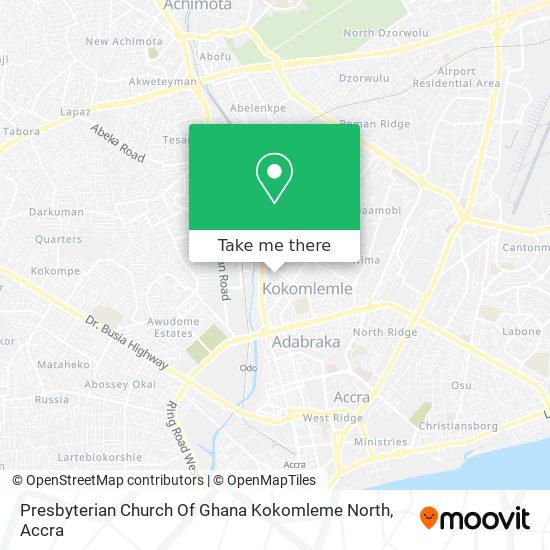 Presbyterian Church Of Ghana Kokomleme North map