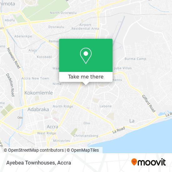Ayebea Townhouses map