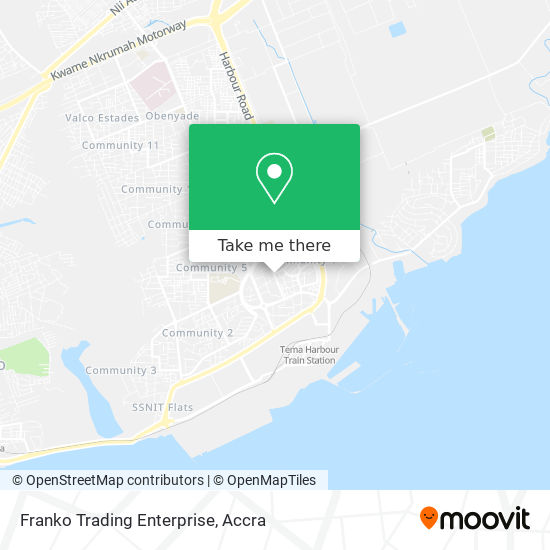 Franko Trading Enterprise map