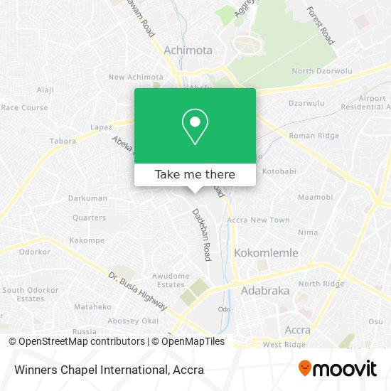 Winners Chapel International map